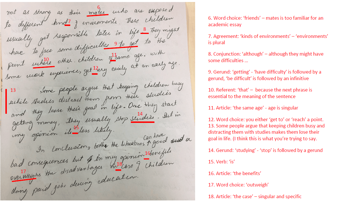 Correcting editing essay writing